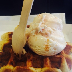 Hot Waffle and Ice Cream