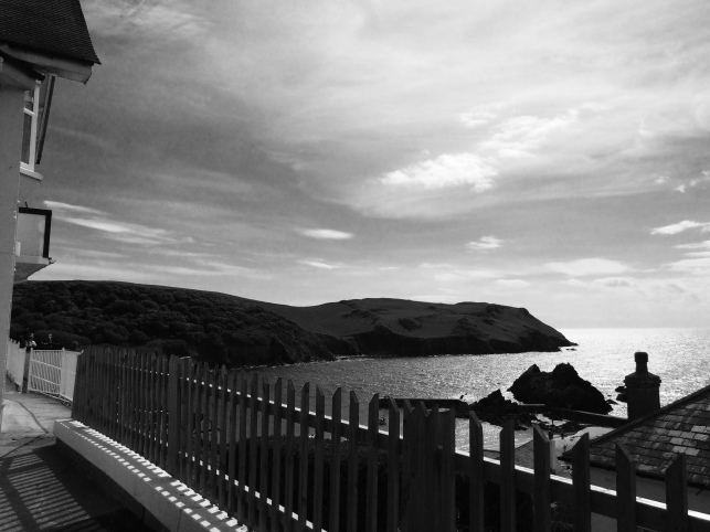 The picket fences along the coastline