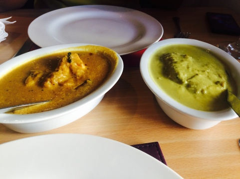Keralan chicken and fish curry